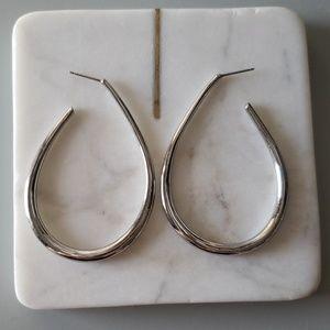 JUICY Couture Pave Teardrop Hoop Earrings - Silver